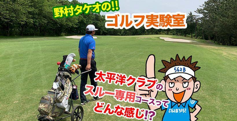 太平洋クラブのスループレー専用「八千代コース」を野村タケオが ...